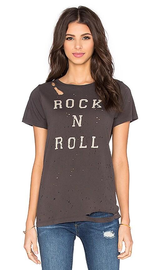 DAYDREAMER Rock N Roll Thrashed Tee in Coal