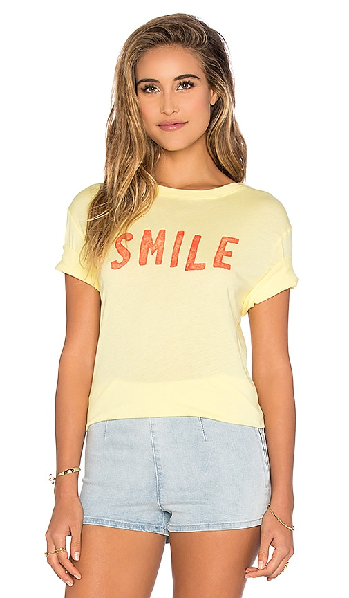 DAYDREAMER Smile Tee in Sunshine