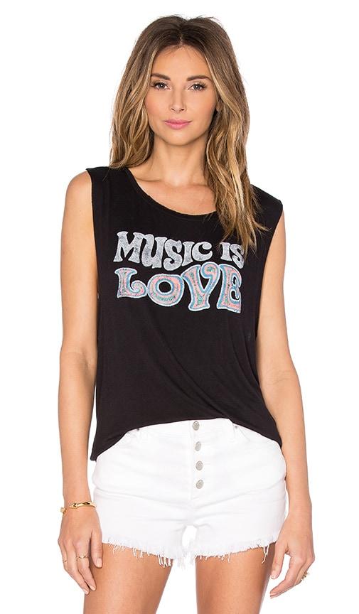 DAYDREAMER Music Is Love Tank in Black