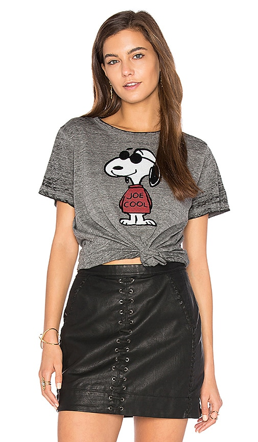 DAYDREAMER Joe Cool Fuzzy Tee in Charcoal