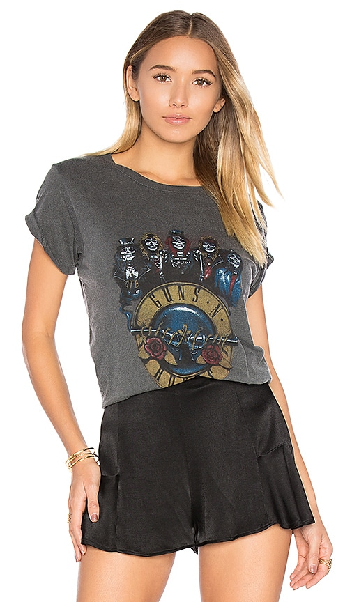 DAYDREAMER Guns n Roses Skeletons Tee in Charcoal