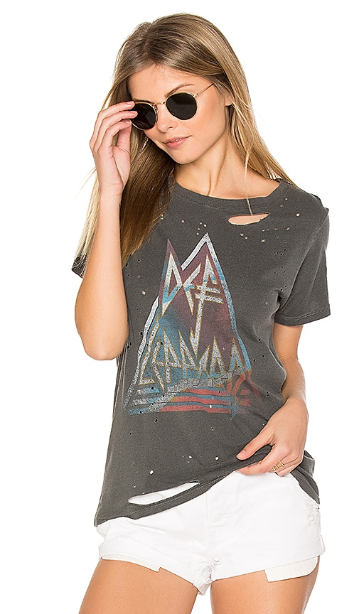 DAYDREAMER On Through The Night Tee in Charcoal
