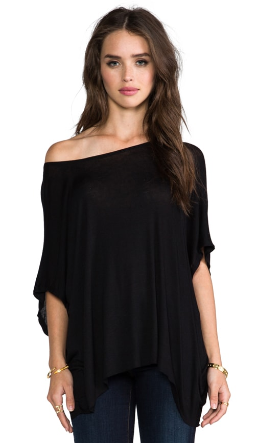 Oversized Tee with Back Zip