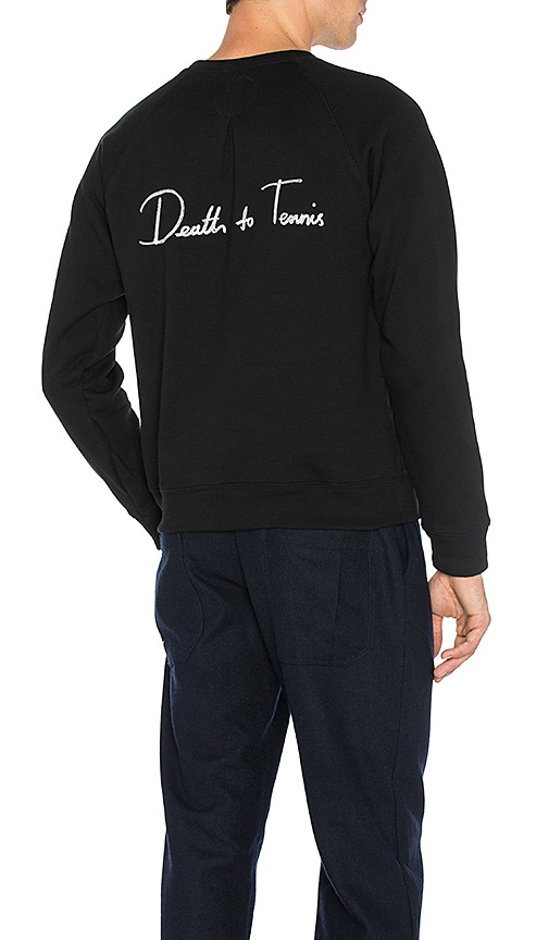 Death to Tennis Lee Sweatshirt in Black