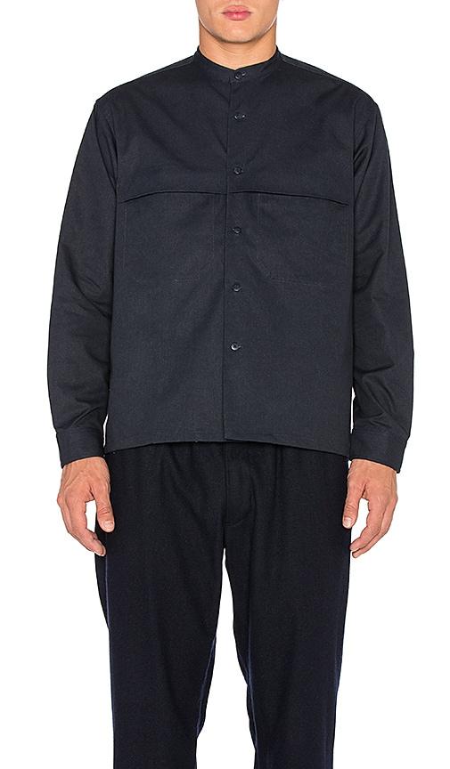 Death to Tennis Edison Shirt in Navy