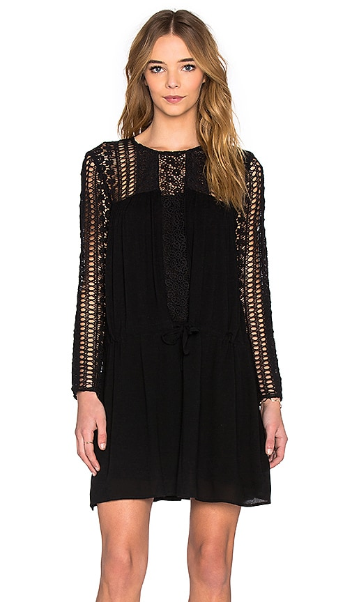 Deby Debo Natcha Lace Drop Waist Dress in Black