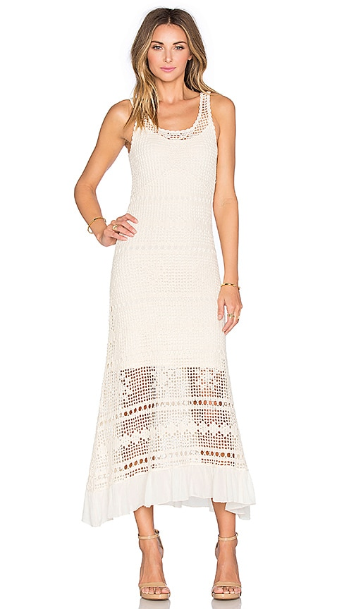 Deby Debo Helias Crochet Maxi Dress in Off White