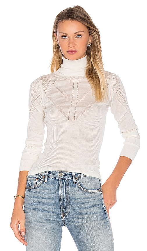 Deby Debo Lana Turtleneck Sweater in Ivory