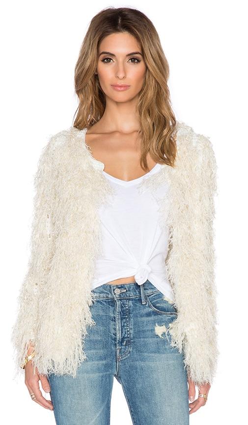 Deby Debo Mandy Faux Fur Jacket in Cream