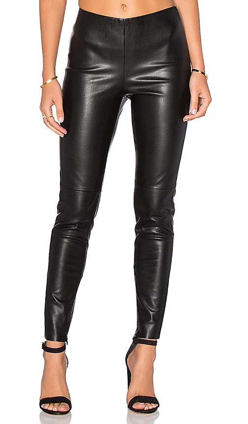 Deby Debo Karen Faux Leather Pant in Black