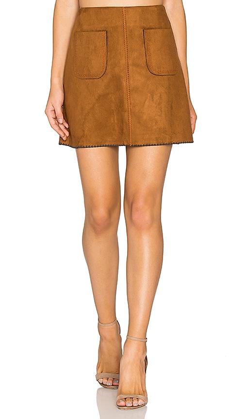 Deby Debo Katelyn Mini Skirt in Cognac