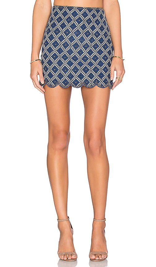 Deby Debo Dita Mini Skirt in Blue