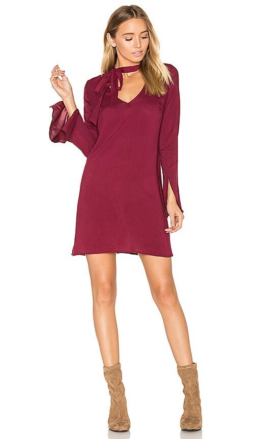 De Lacy Otis Dress in Burgundy