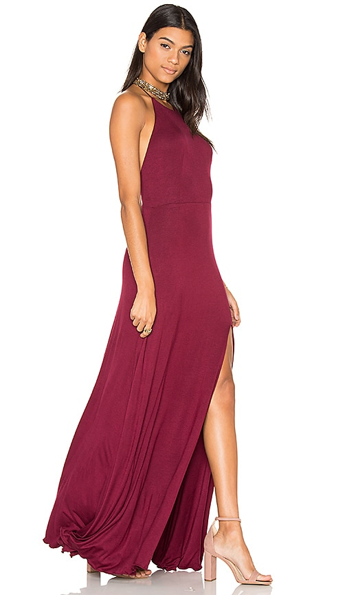 De Lacy Nikki Dress in Burgundy