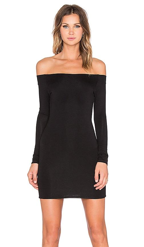 De Lacy Amelia Off Shoulder Dress in Black