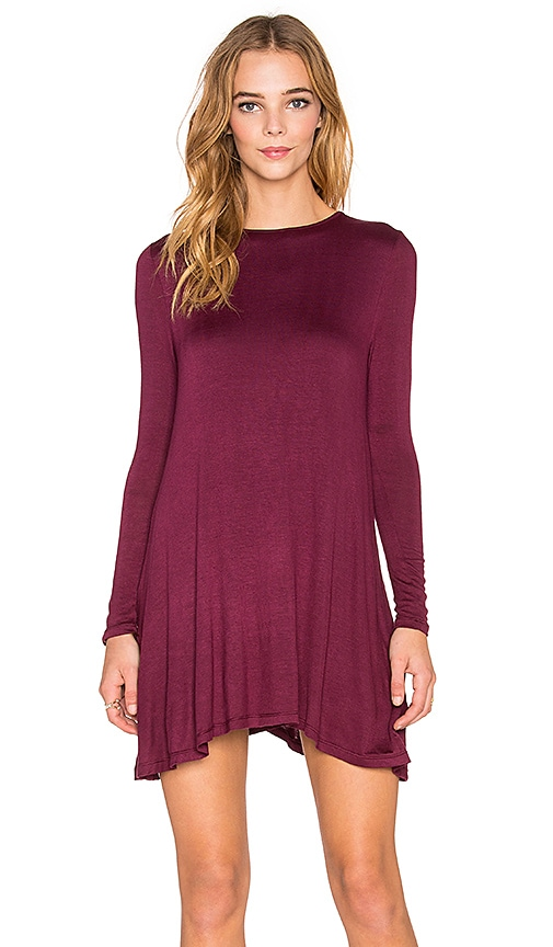 De Lacy Tyler Long Sleeve Dress in Merlot