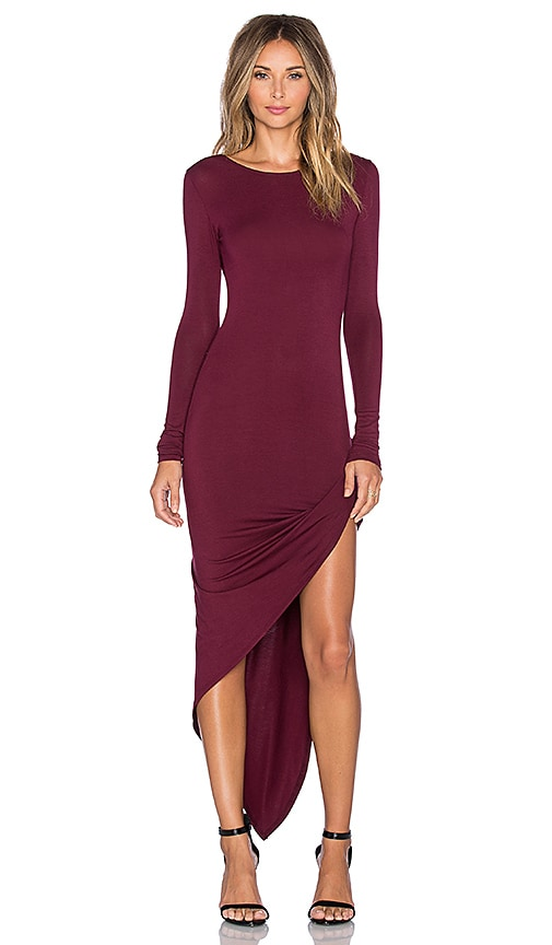 De Lacy Sam Wrap Dress in Merlot