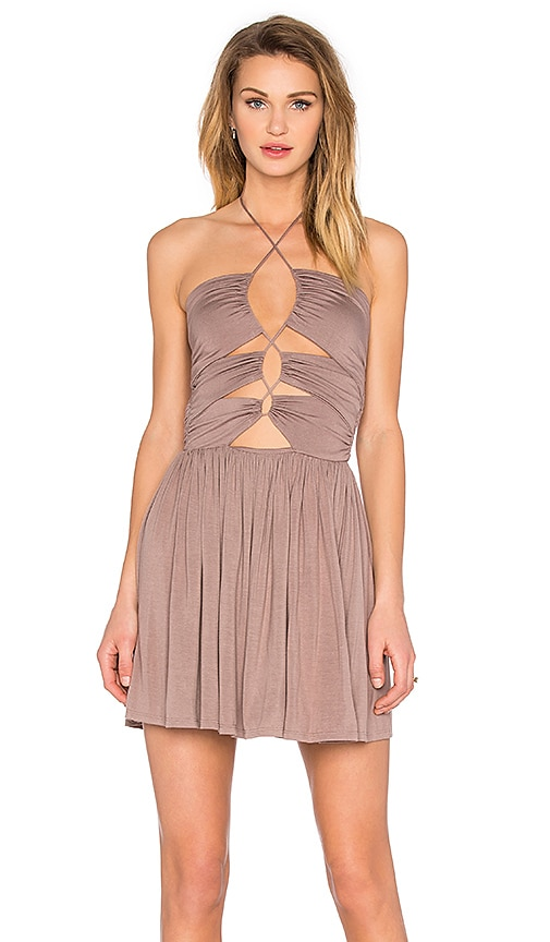 De Lacy Sophia Dress in Taupe
