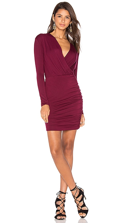 De Lacy Kelsi Dress in Burgundy