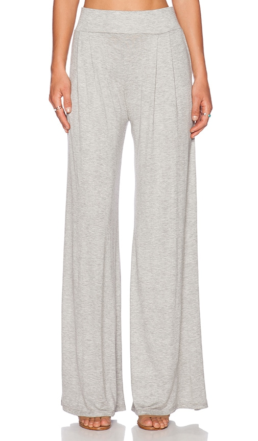 De Lacy Amber Wide Leg Pant in Heather Grey