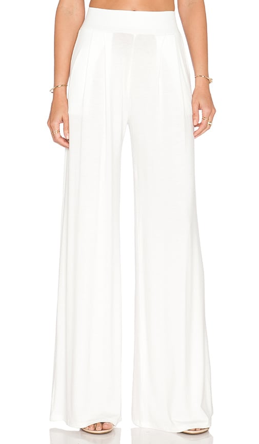 De Lacy Amber Wide Leg Pant in White