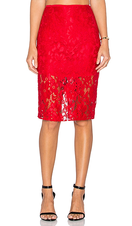 De Lacy Shea Skirt in Red