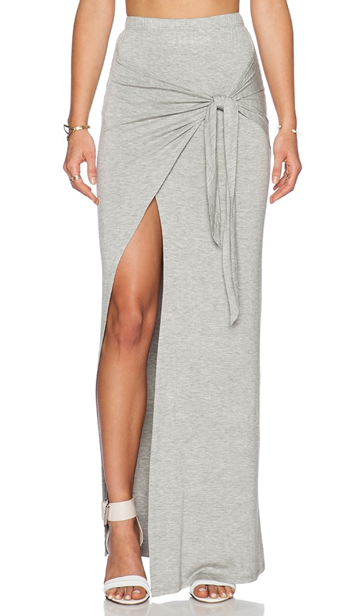De Lacy Monica Maxi Skirt in Heather Grey