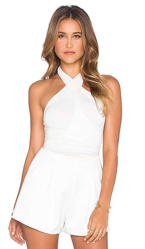 De Lacy Blain Halter Top in White