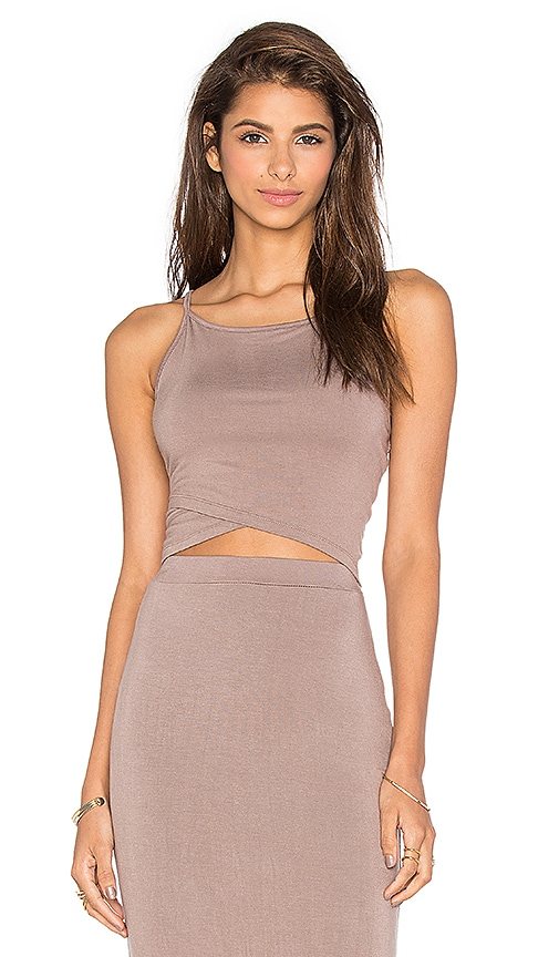 De Lacy Sia Crop Top in Taupe