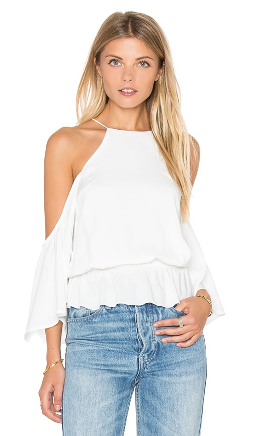 De Lacy Gemma Cold Shoulder Top in White