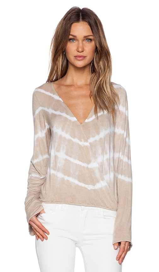 De Lacy x REVOLVE Adele Top in Taupe Tie Dye