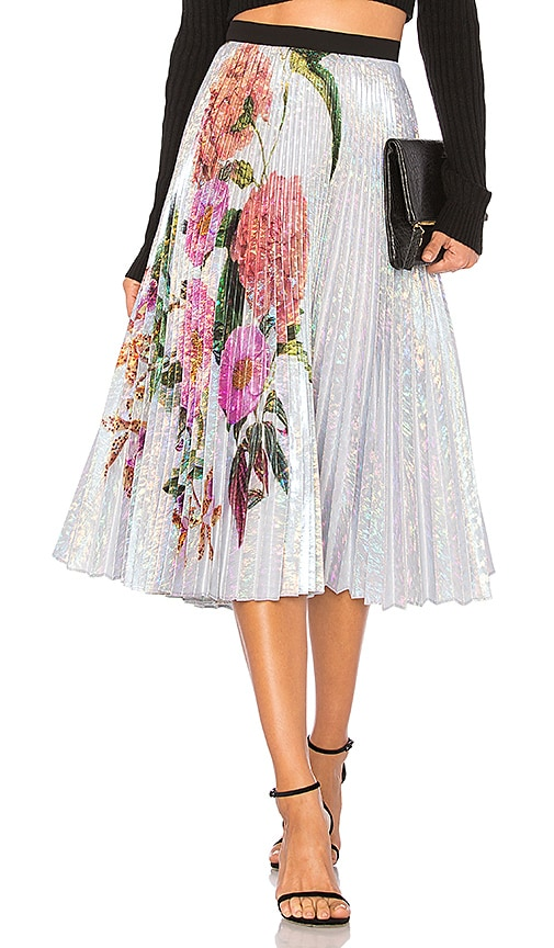 DELFI Clara Skirt in Metallic Silver