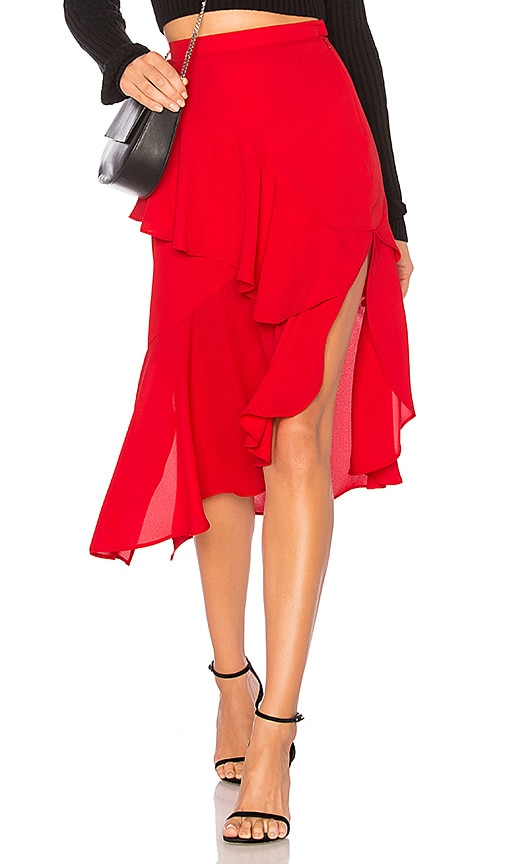 DELFI Isla Skirt in Red