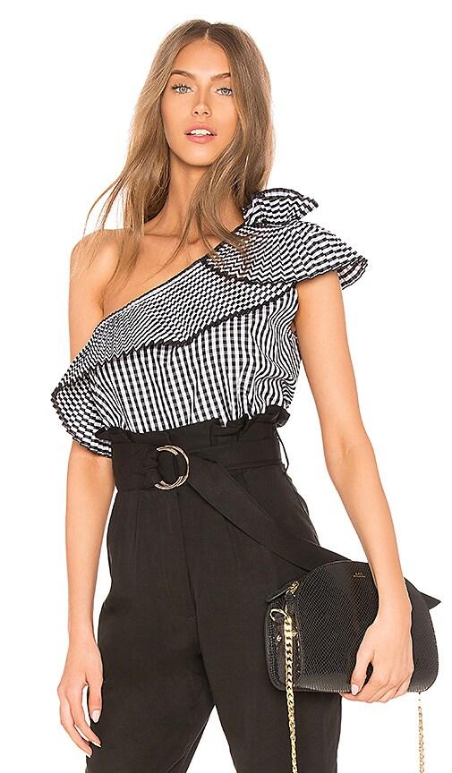 DELFI Noelle Top in Black & White