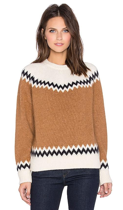 DemyLee Harper Sweater in White & Camel Combo