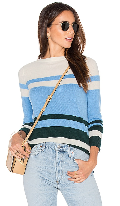 DemyLee Lucille Stripe Sweater in Blue