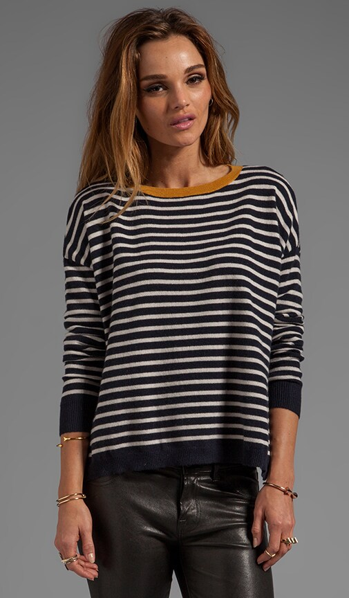 Stripe Alexa Cashmere Pullover