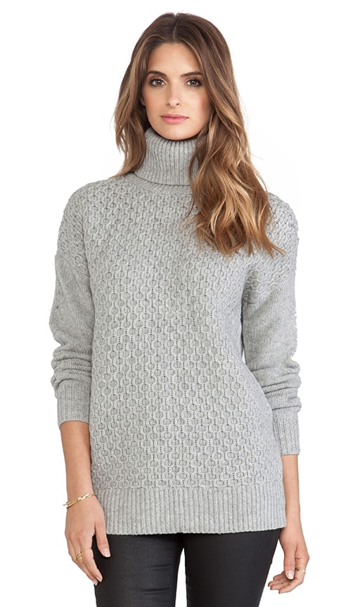 DemyLee Ruth Turtleneck Sweater in Light Heather Grey | REVOLVE