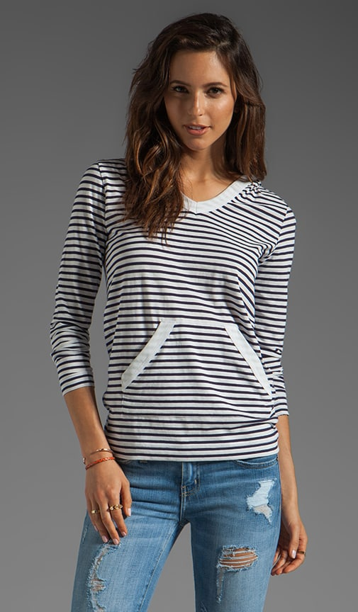 Henri Hooded Sailor Stripe Top