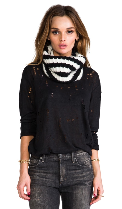 Cashmere Stripe Eternity Scarf