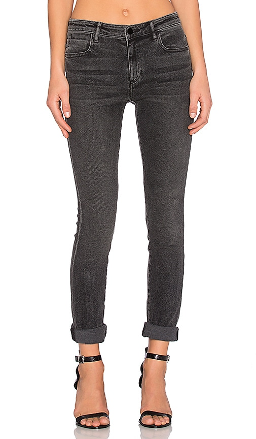 DENIM x ALEXANDER WANG Wang 001 Skinny Jeans in Grey Fade