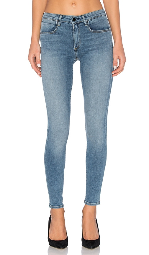 DENIM x ALEXANDER WANG Whip Skinny Jean in Washed Light Indigo