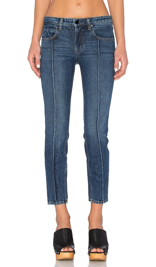DENIM x ALEXANDER WANG Drift Relaxed Jean in Medium Indigo Aged