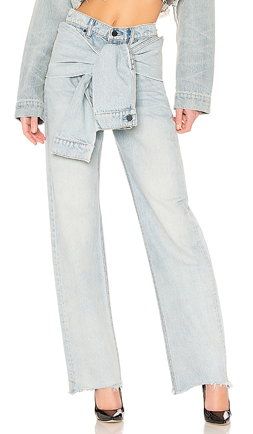 DENIM x ALEXANDER WANG Stack Tie Jean in Bleach