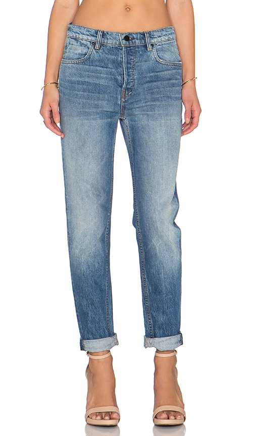 DENIM x ALEXANDER WANG Boy Jean in Light Indigo Aged