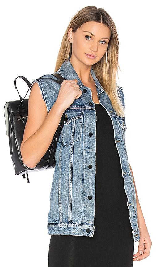 DENIM x ALEXANDER WANG Daze Denim Vest in Light Indigo Aged