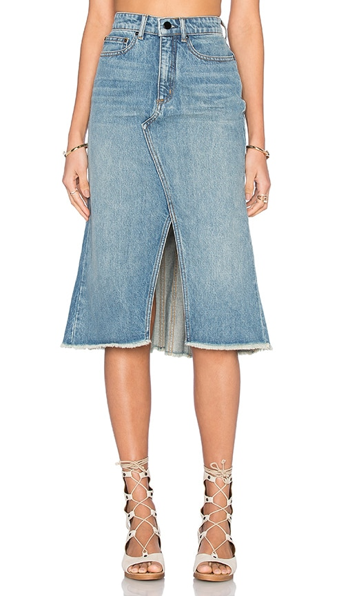 DENIM x ALEXANDER WANG A-Line Skirt in Blue