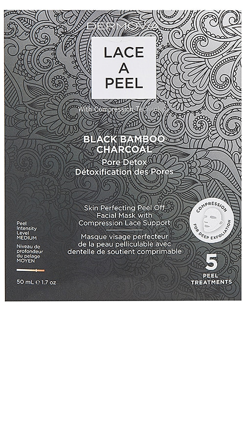 Black Bamboo Charcoal Lace a Peel Mask 5 Pack