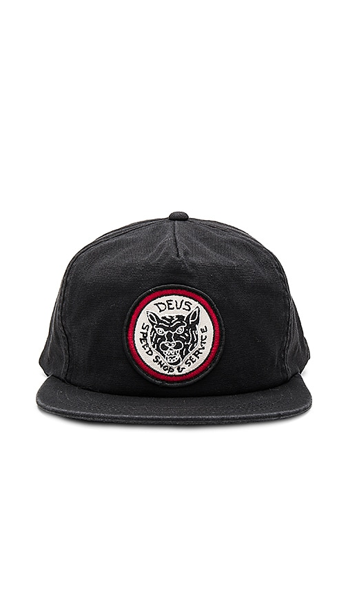 Deus Ex Machina Tiger Head Cap in Black