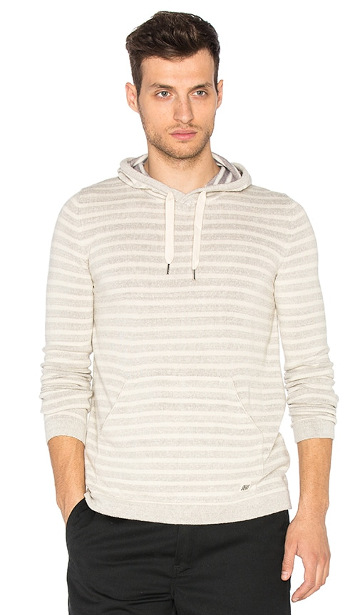 Deus Ex Machina Surf Stripe Hoody in Light Gray